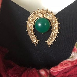 Vintage Mid-Century Horseshoe Dress Scarf Clip Pin